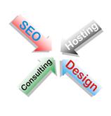 web design, web hosting, search engine optimization, web development